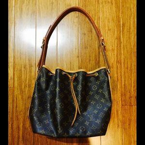 Authentic Louis Vuitton Black Leather